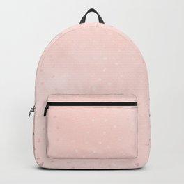 Rose Gold Pastel Pink Foil Paint Line Dots XXIII Backpack