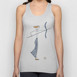 Artemis, 650 BCE: Greek goddess of the hunt & protector of young girls Unisex Tank Top