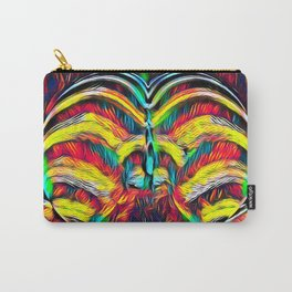1349s-MAK Abstract Pop Color Erotica Explicit Psychedelic Yoni Buns Carry-All Pouch