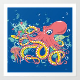 Octopus and Friends Art Print