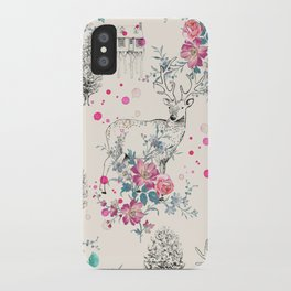 Deer pattern iPhone Case
