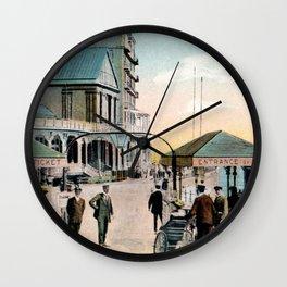 Pier Gates Llandudno Wales 1890 Wall Clock