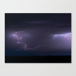 Summer Lightning Storm On The Prairie IV - Nature Landscape Canvas Print