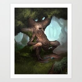 The Old Man of the Woods Art Print