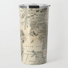 Vintage and Retro Geological Map British Isles Travel Mug
