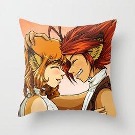 Head Bump Throw Pillow