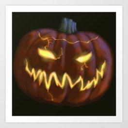 Scary Jack o'lantern Art Print