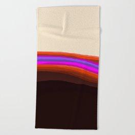Orange, Purple, and Cream Abstract Beach Towel