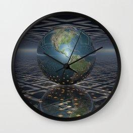 Earth Horizons Wall Clock