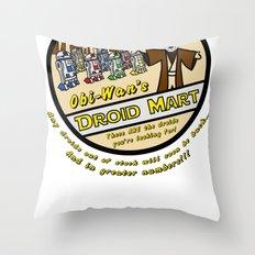 Obi-Wan's Droid Mart Throw Pillow