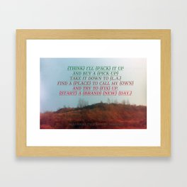 """""""Out On The Weekend"""" by Neil Young Framed Art Print"""