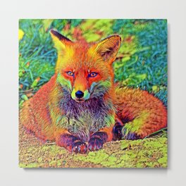 AnimalColor_Fox_001_by_JAMColors Metal Print