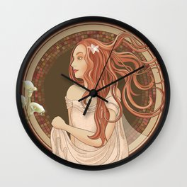 The Green Eyed Girl Wall Clock