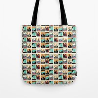 posters Tote Bags featuring Travel Posters by Printed Village