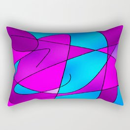 ABSTRACT CURVES #2 (Purples, Violets, Fuchsias & Turquoises) Rectangular Pillow