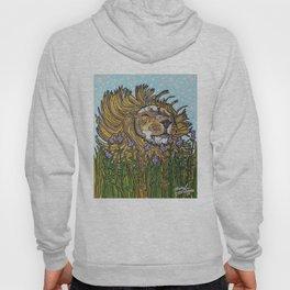 Lion in Lavender Painting Hoody