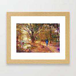 Stroll In The Park. Framed Art Print