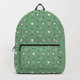 Dark teal happy face Backpack