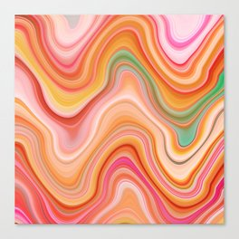 Bubble gum memories - Abstract Pink Pattern Canvas Print