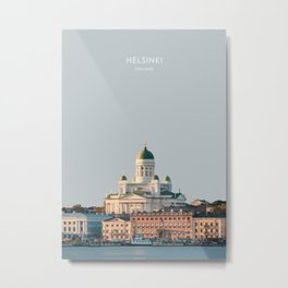 Helsinki, Finland Travel Artwork Metal Print