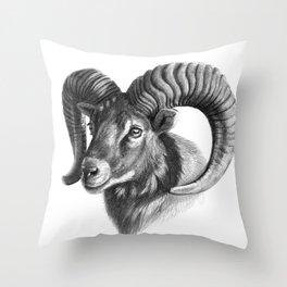 The mouflon G125 Throw Pillow