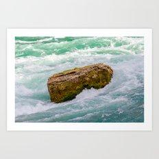 Solid as a rock Art Print