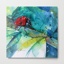 Ladybug - by Kathy Morton Stanion Metal Print