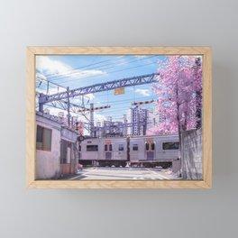 Seoul Anime Train Tracks Framed Mini Art Print