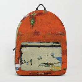 Roadrunner Bright Orange Abstract Colorful Art Painting Backpack