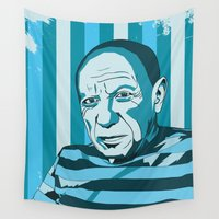 picasso Wall Tapestries featuring Picasso by Alex Bardera