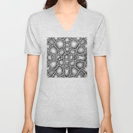 Chaotic Clusters Macro Abstract Unisex V-Neck