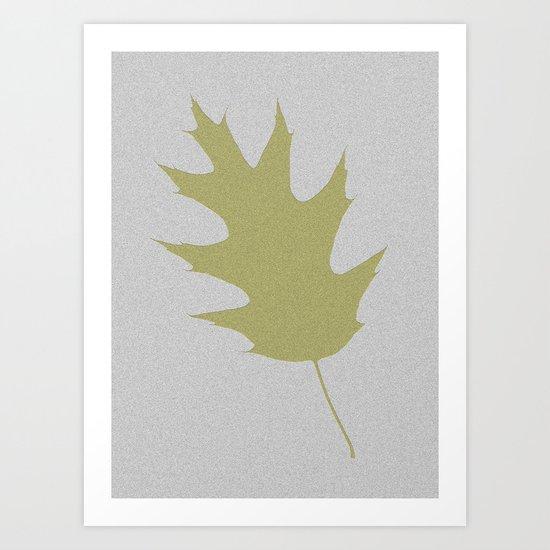 Feuille d'arbre de chêne Art Print