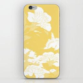 japanese flowers. Yellow iPhone Skin