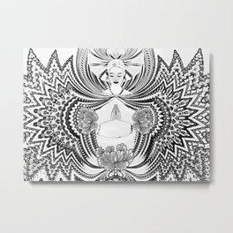 Yoga Girl Metal Print