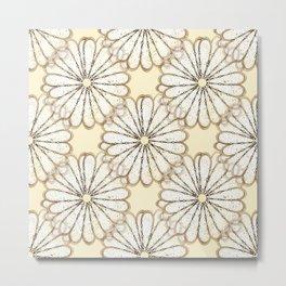 Cream Daisy Petals  Metal Print