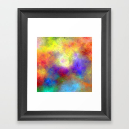 Oh So Colorful Framed Art Print