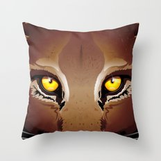 Wild Puma Eyes Throw Pillow