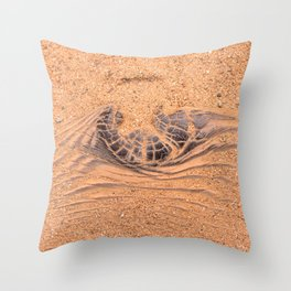 Wood in the Sand Throw Pillow