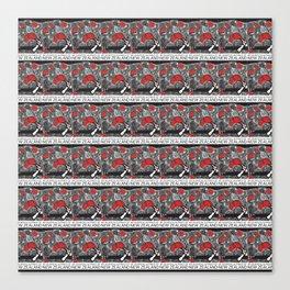 Mt Ruapehu/Pohutukawa Stamp Collage Canvas Print