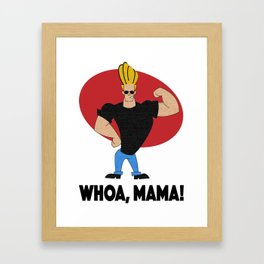 """Whoa, Mama"" Johnny Bravo Textured Illustration Framed Art Print"