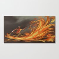 aang Canvas Prints featuring Avatar Aang by Zack Coleman