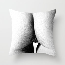 Abstract woman ink work Throw Pillow
