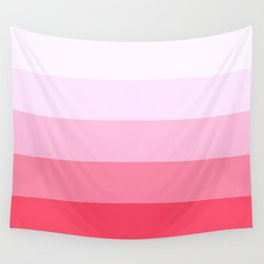 Pastel Pink Stripes. Wall Tapestry