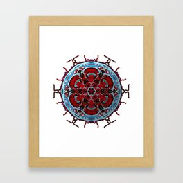 Tribal Cell Circle Framed Art Print