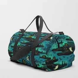Halloween Night - Fox Fire Green Duffle Bag