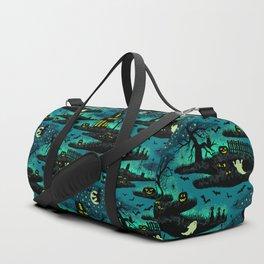 Halloween Night - Fox Fire Green Duffle Bag