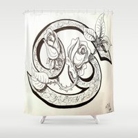 cancer Shower Curtains featuring Cancer by Megan Dill