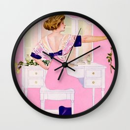 """Coles Phillips 'Fadeaway Girl' Illustration """"The Yellow Rose"""" Wall Clock"""