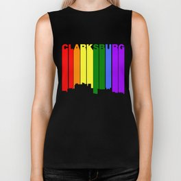 Clarksburg West Virginia Gay Pride Skyline Biker Tank