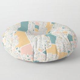 Manhattan New York Map Art Floor Pillow
